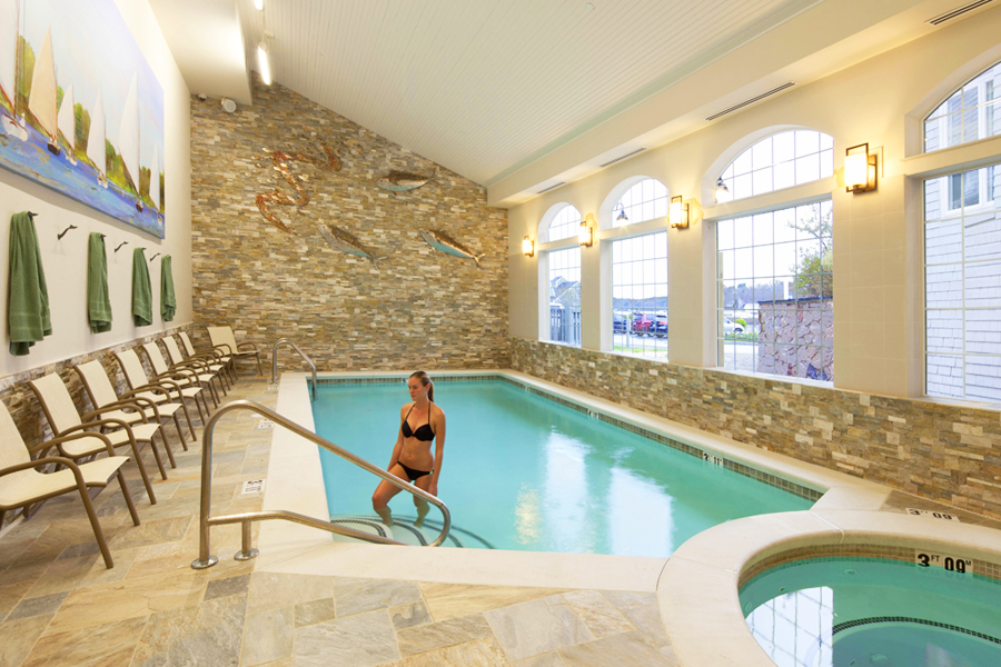 Indoor Pool & Hot Tub at Stage Neck Inn