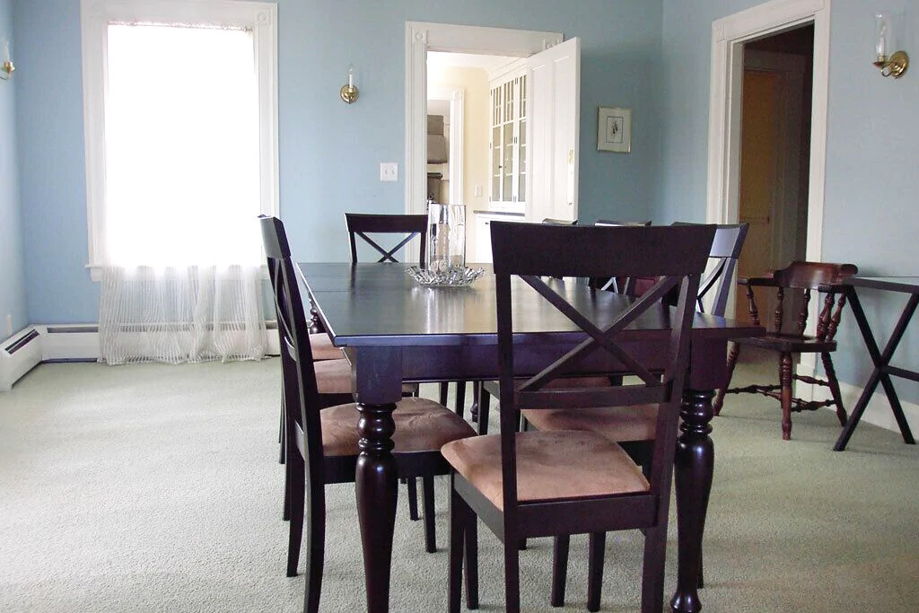 Formal Dining Area at Grand Seaside Cottage Rental in York Harbor Maine