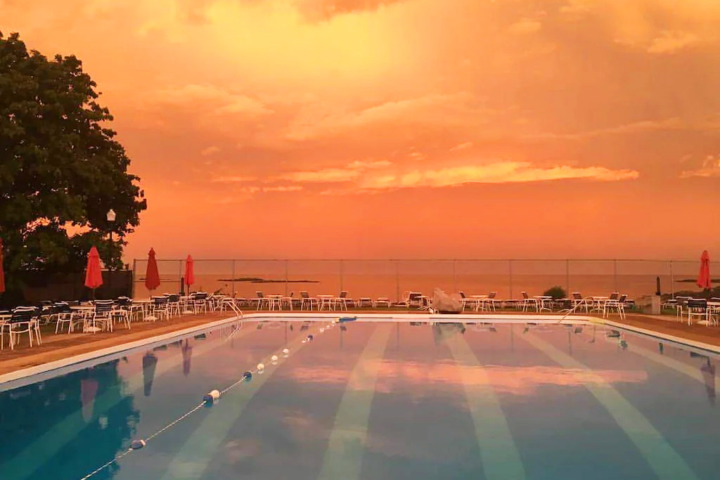 Sunset at the Pool